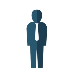 Businessman pictogram icon person design vector
