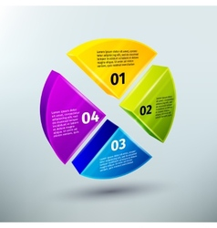 Abstract business infographics design elements vector image