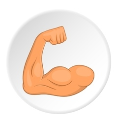 Arm muscule icon flat style vector