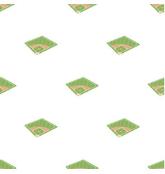 baseball court baseball single icon in cartoon vector image