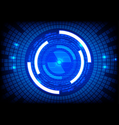 Blue tech circle and technology background vector