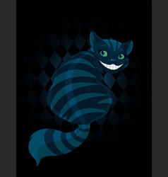 Cheshire cat vector