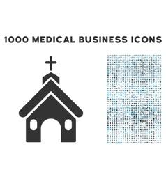 Church icon with 1000 medical business pictograms vector