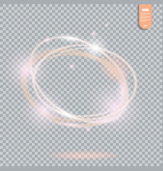 circle light effect on transparent background vector image