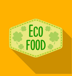 eco-food icon in flat style isolated on white vector image