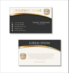elegant business card design template 01 vector image