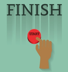 finger with start to finish vector image