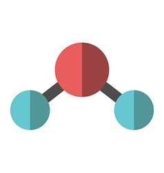 Flat water molecule isolated vector image