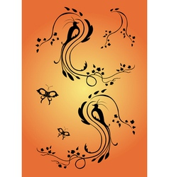 floral swirl element vector image vector image