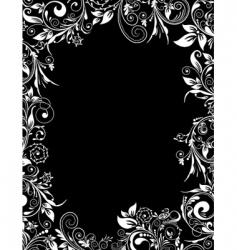 frame floral for design vector image vector image