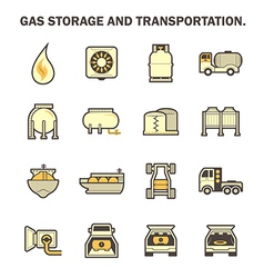 Gas transportation icon vector
