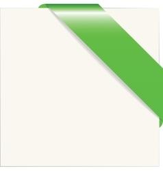 Green paper corner vector