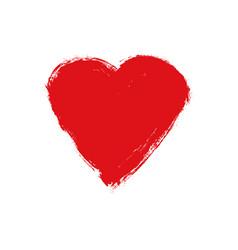 Grunge heart love shape heart drawn vector