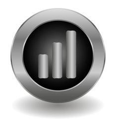 Metallic signal button vector image vector image