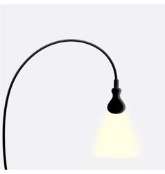 Modern black lamp on white vector