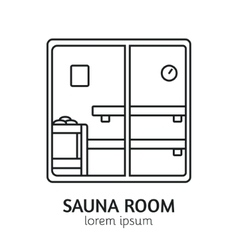 Modern Line Style Sauna Logotype Template vector image vector image