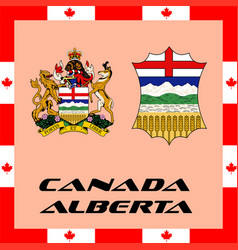 official government elements of canada - alberta vector image