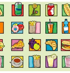 pop art food pattern vector image vector image