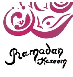 Ramadan Kareem lettering Hand Drawn vector image vector image