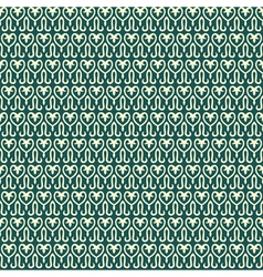 Seamless retro pattern with abstract heart and lil vector image vector image