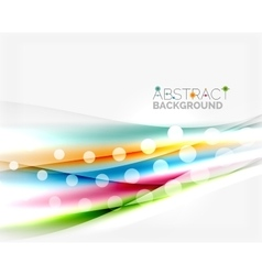 Shiny color lines on white background - motion vector