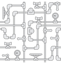 Simles pattern pipe vector image