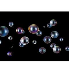 soap bubbles background vector image