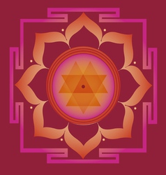 Spring yantra for health and wellbeing vector