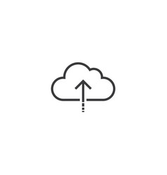 upload icon line style vector image vector image