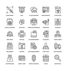 web design icons 5 vector image