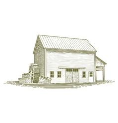 Woodcut Mill vector image