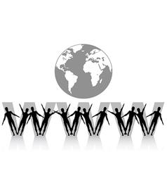 www internet concept vector image