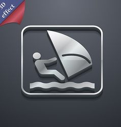 Windsurfing icon symbol 3d style trendy modern vector