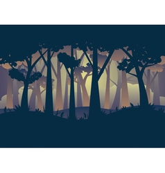 Abstract forest landscape5 vector
