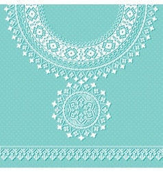 Vintage necklace embroidery for fashion vector