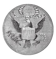 Great seal of the united states of north america vector
