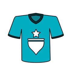 Color image cartoon blue soccer t-shirt sport wear vector