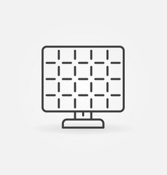 Solar panel outline icon vector