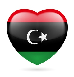 Heart icon of libya vector