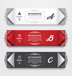 Infographic design modern vintage labels template vector