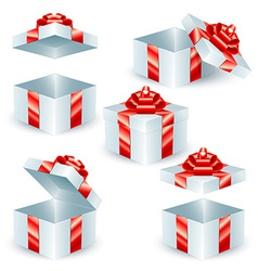 Square gift boxes vector