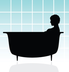 Girl in bathtub vector