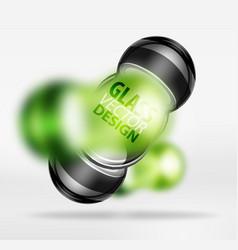 3d techno glass bubble design vector image