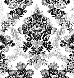 11 abstract hand-drawn floral seamless pattern vector
