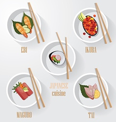 Asian restaurant menu template vector