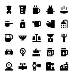 Home appliances icons 9 vector