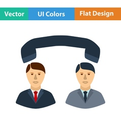 Flat design icon of telephone conversation vector