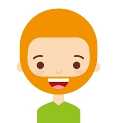 Face man with a beard isolated icon design vector