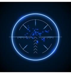 Accurate sniper scope neon luminous target vector