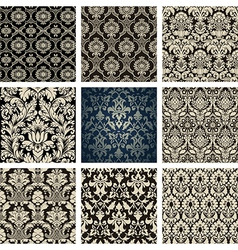 Baroque Floral Pattern Set vector image vector image